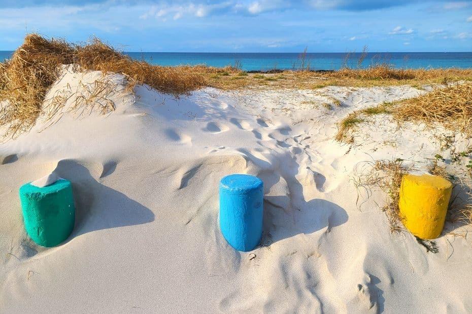 Sandy beach seen during 1 week on Jeju Island in winter