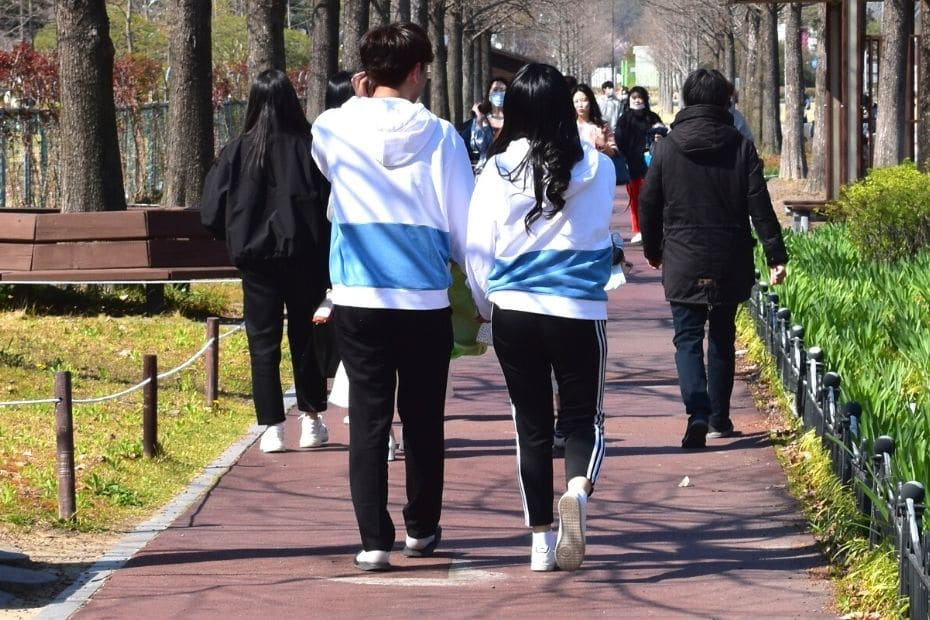 Dating in Korea involves wearing couples clothing