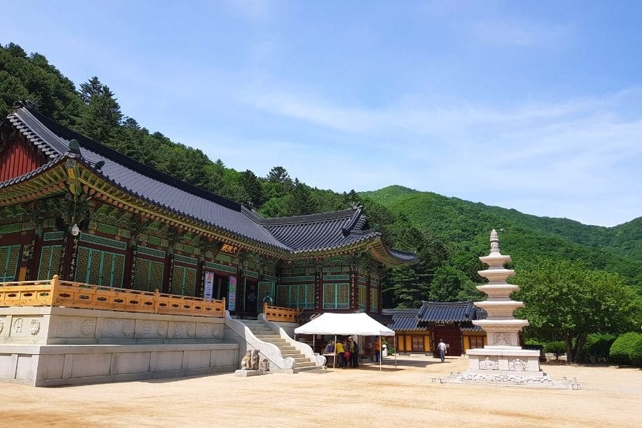 Buddhist temple in a Korean national park