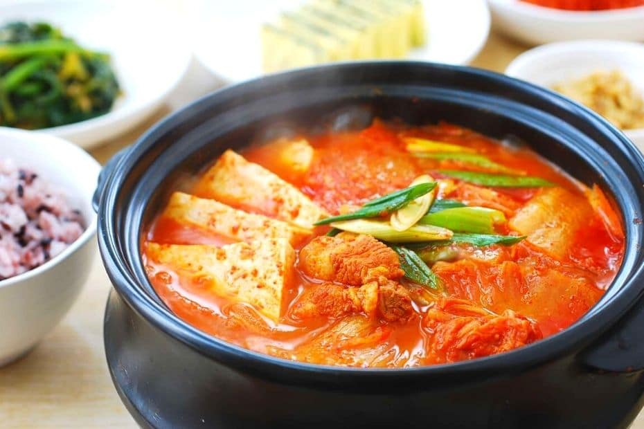 Kimchi jjigae - a traditional Korean dish