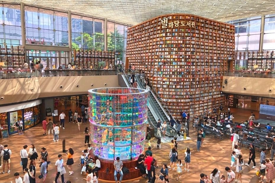 COEX Mall is a great place to visit during a rainy day in Seoul