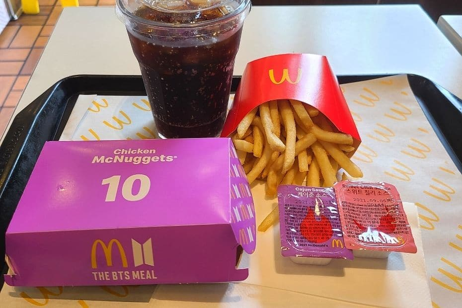 The BTS Meal from McDonalds in Korea