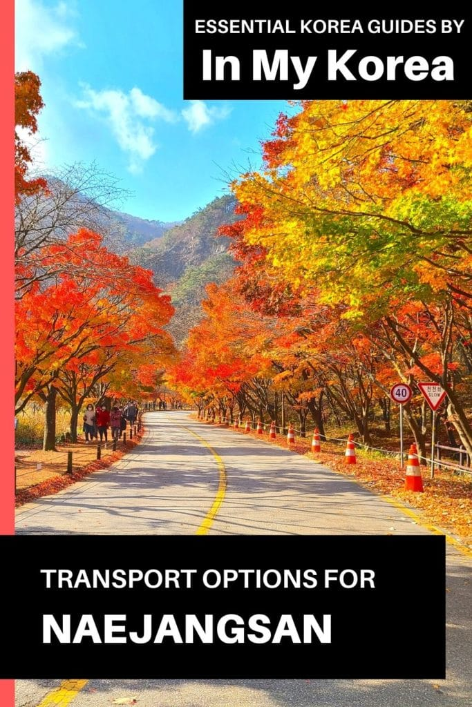 Transport Options For Naejangsan National Park