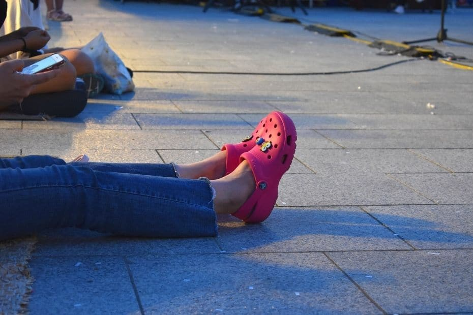 Footwear during summer in Seoul