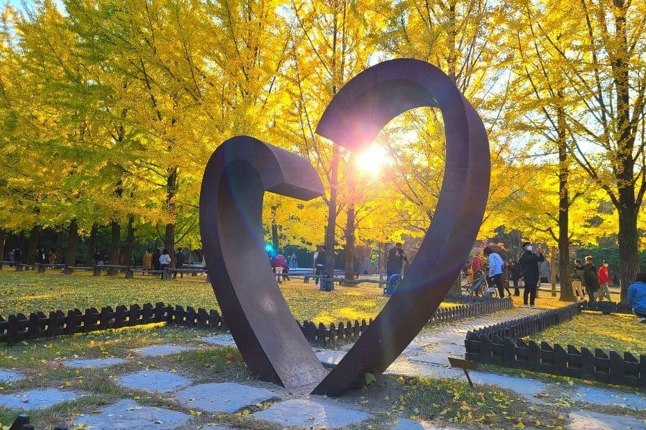 Heart Statue At Nami Island, Korea