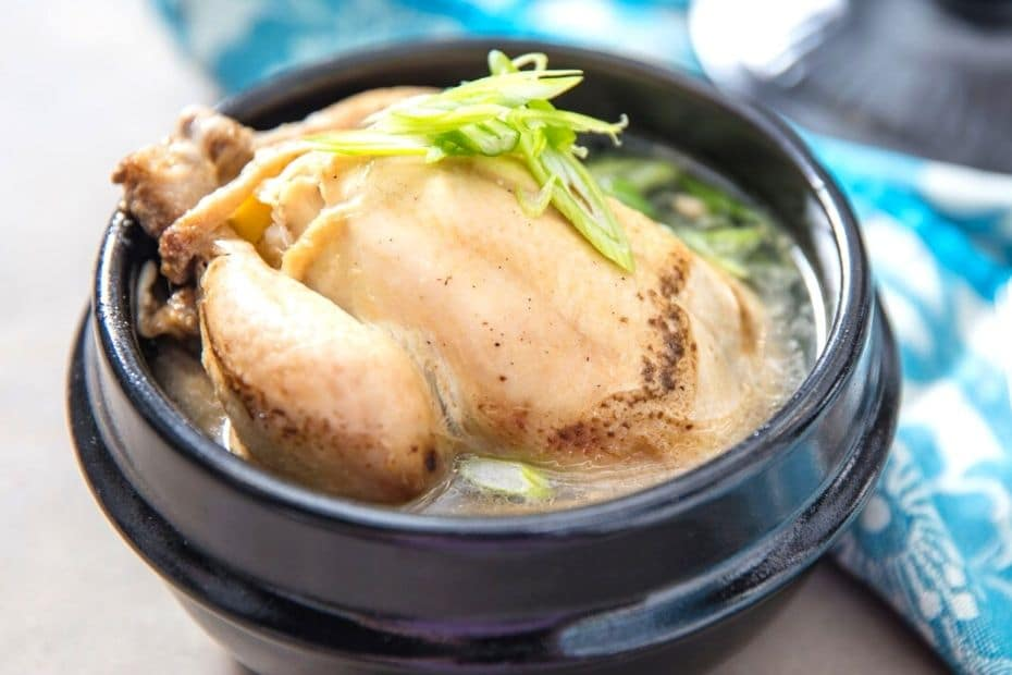Samgyetang is one of the traditional Korean dishes eaten in summer