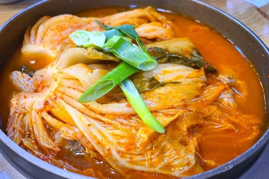 Kimchi jjigae, a traditional Korean dish