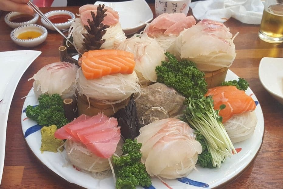 Hoe, a Korean traditional dish of raw fish