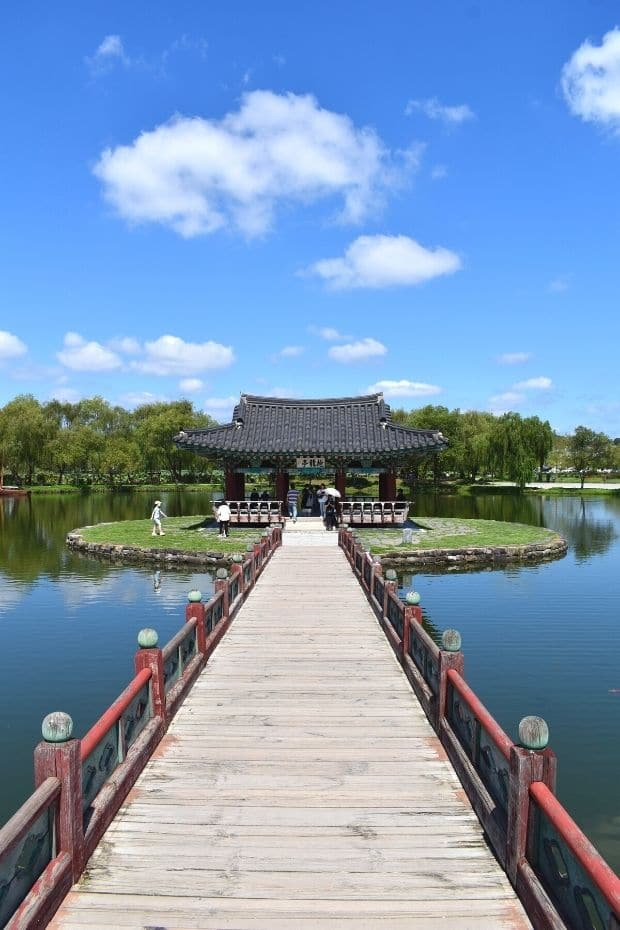 View of Gungnamji Pond, Buyeo, South Korea