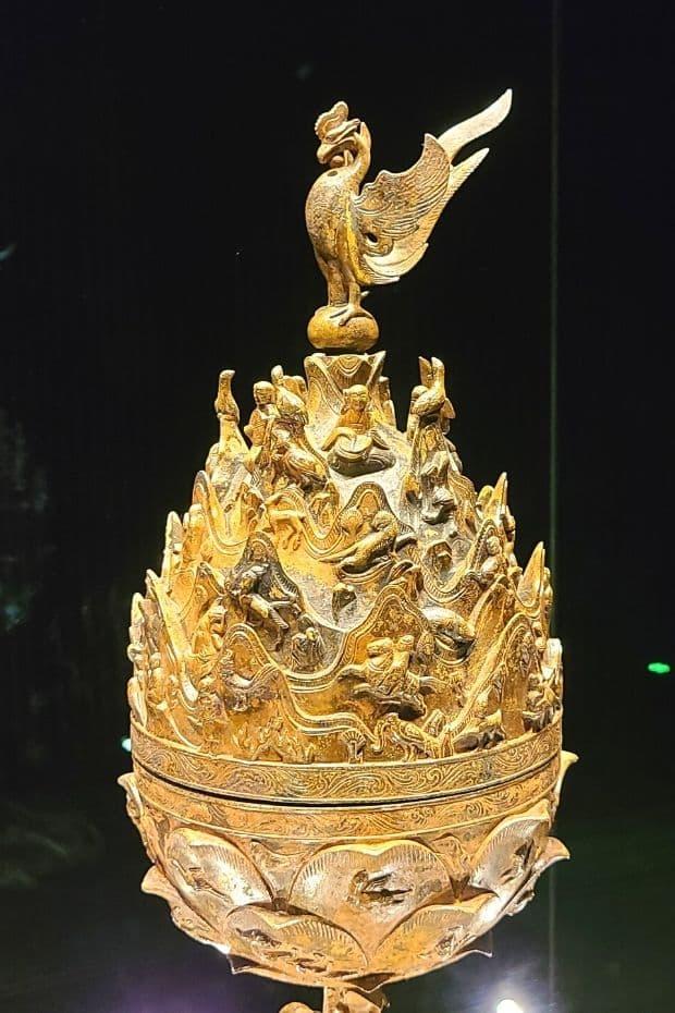 Gilt-bronze Incense Burner of Baekje in Buyeo National Museum