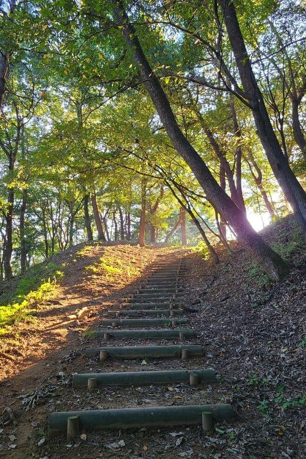 Pathway inside Busosanseong Fortress, Buyeo