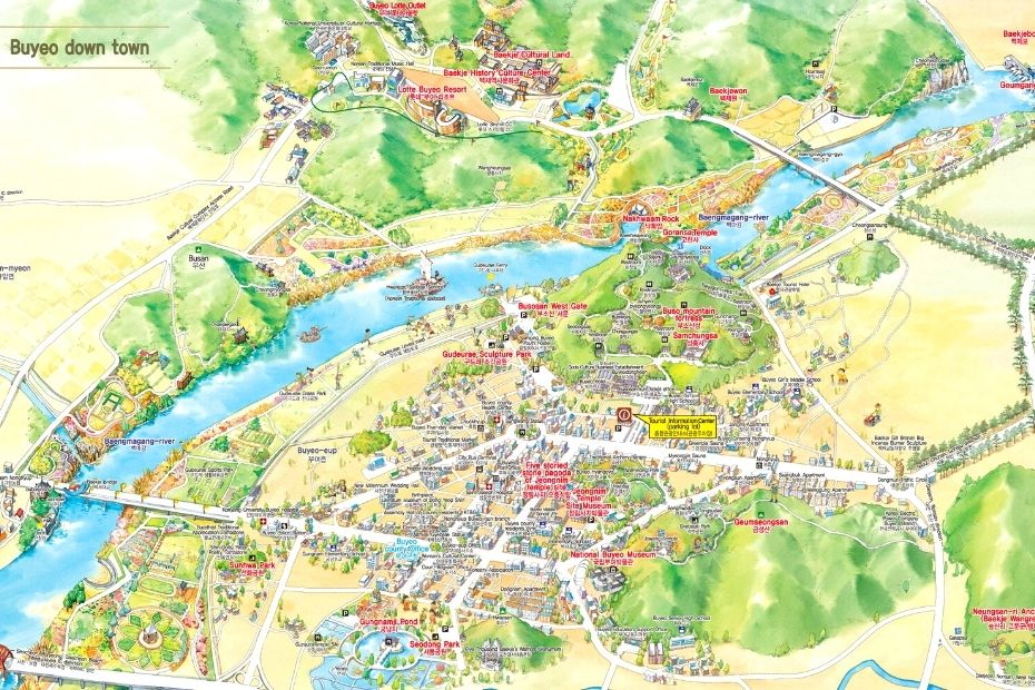 Map of things to do in Buyeo City