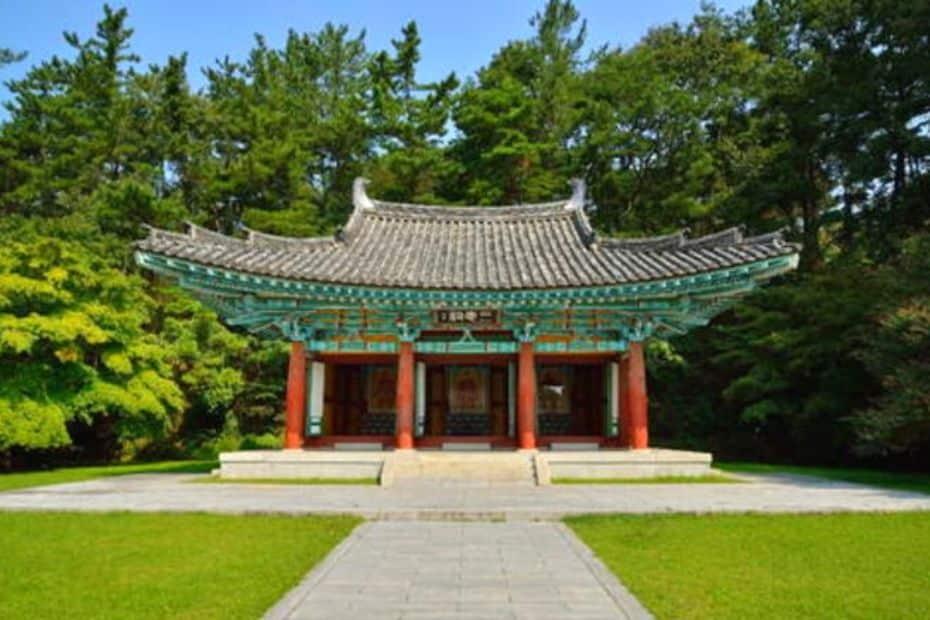 Samchungsa Shrine in Busosanseong Fortress, Buyeo