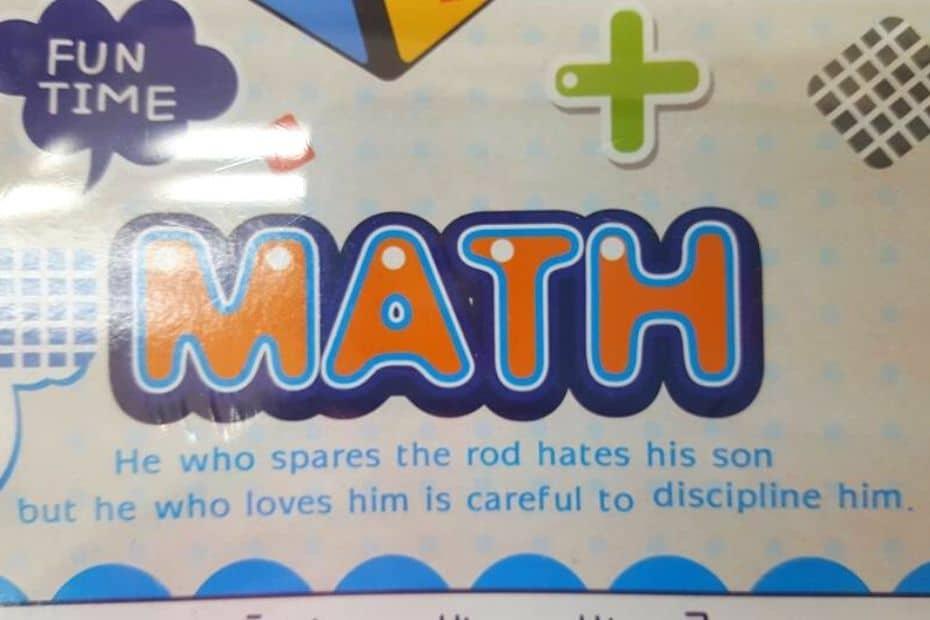 Konglish fail on a math practice book