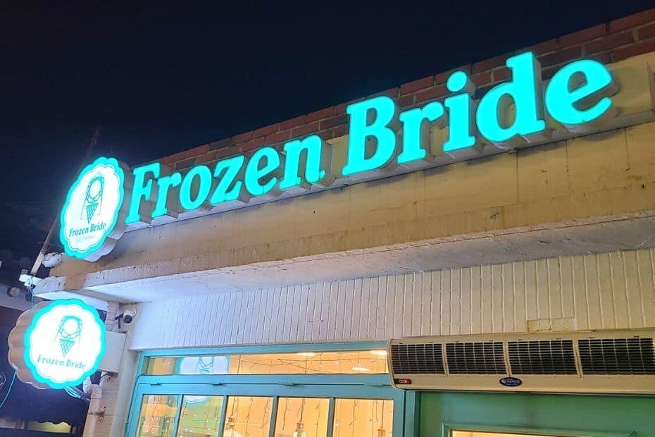 Frozen Bride ice cream from South Korea
