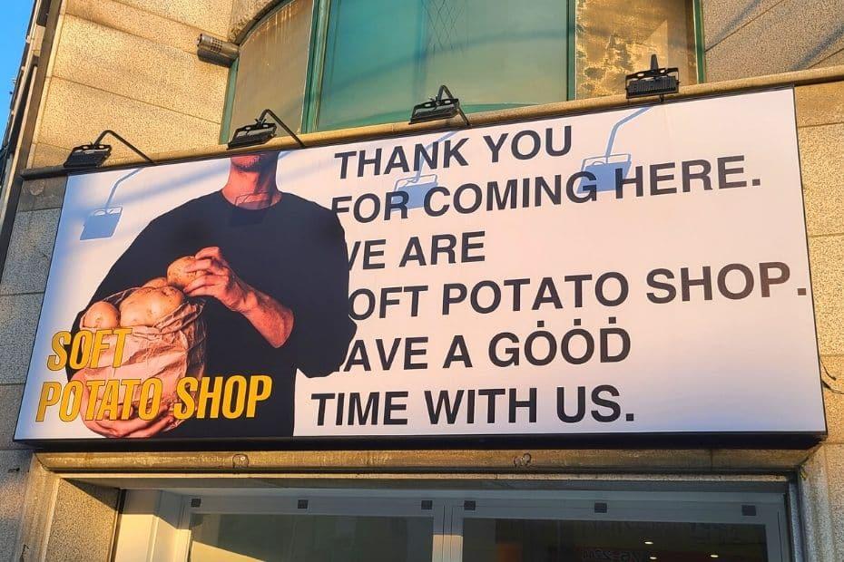 Soft Potato Shop in Korea