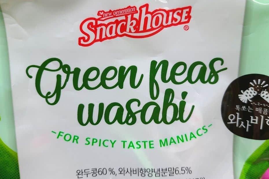 Green peas wasabi from Korea