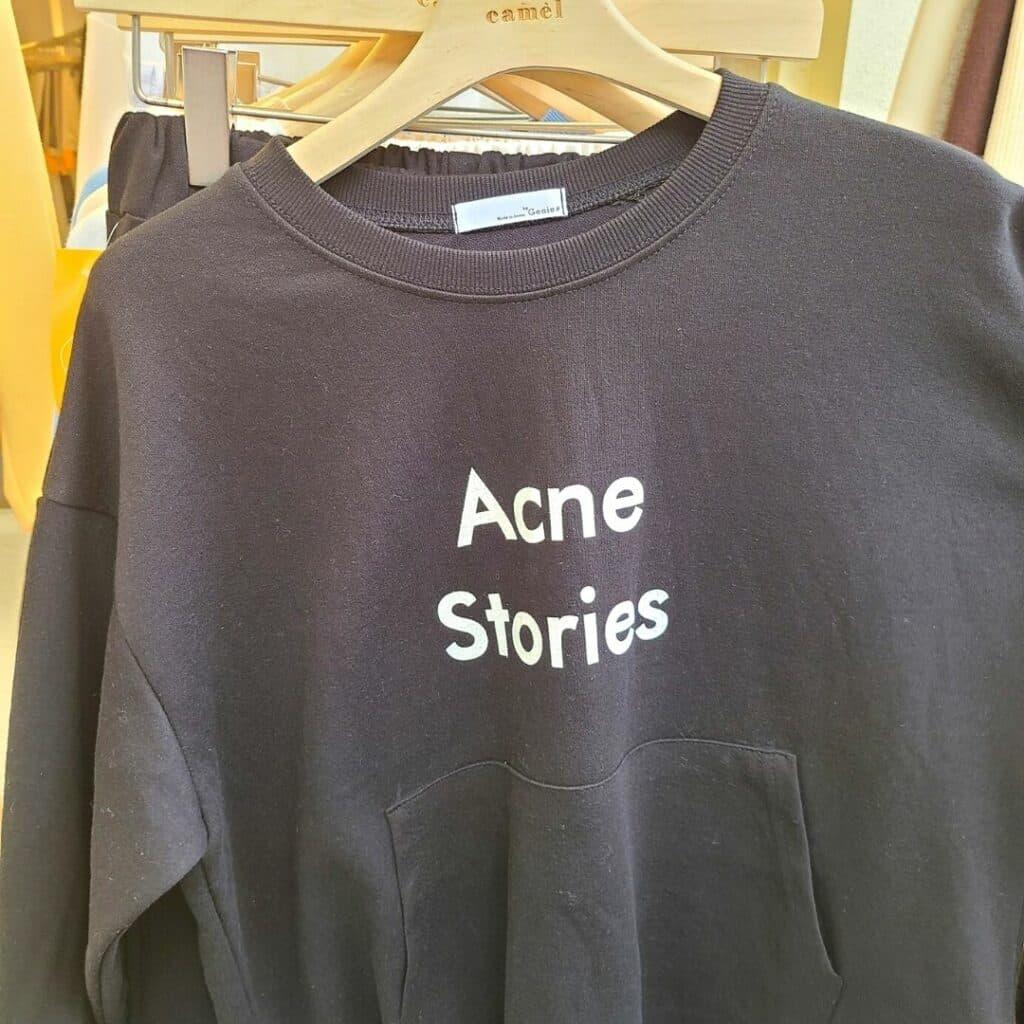 Acne Stories funny Korean sweater